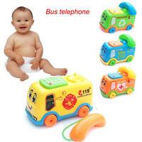 EE_ BABY TOYS MUSIC CARTOON BUS PHONE EDUCATIONAL DEVELOPMENTAL KIDS TOY GIFT SU