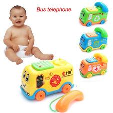 Juguetes Para Bebé Música dibujos bus Teléfono educativo desarrollo Niños Regalo