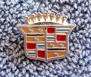 "NEW OEM GM Cadillac Models Chrome Metal Dash Ornament Crest Emblem .75"" Tall"