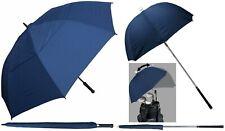 "Set of Navy Golf Umbrellas-1 Personal 60"" Arc Windbuster & 1 Golf Bag Deflector"