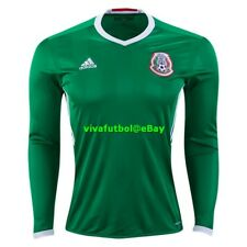 NEW Adidas Mens Seleccion Mexicana Futbol Mexico Soccer Long Sleeve Jersey L