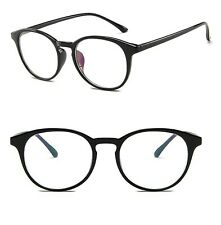 Oval Round Clear Lens Fashion Glasses Womens Mens Anti Glare
