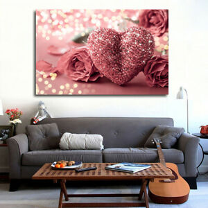 Modern Canvas Painting No Frame Picture Bedroom Background Hanging Wall Decor UK