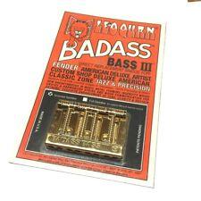 Gold Badass III Bass Bridge for String Thru Fender P/J/Tele Bass® BB-0336-002