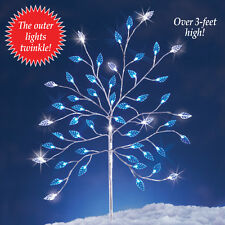 """Beautiful Romantic Glow LED Lighted Silver Branch Tree 40"""" Tall"""