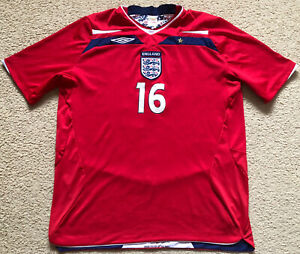 016 Authentic England #16 Soccer Jersey 2008 - 2010 Umbro Mens XL Express Post