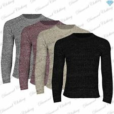 Cotton Crew Neck Long Jumpers & Cardigans for Men