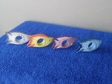"""New listing Wooden Fish Napkin Rings Made in Philippines 4.25"""" x 2.25"""""""