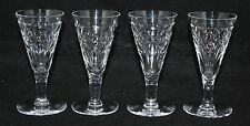 "Webb Corbett Crystal - 4 x 4 1/2"" Sherry Glasses - vgc"