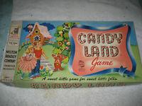 VINTAGE 1956 CANDY LAND ORIGINAL BOARD GAME BOX 100% COMPLETE TOY MILTON BRADLEY