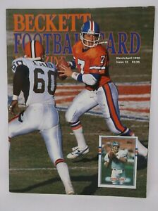 Beckett Football Card Magazine March/April 1990 Issue #3 JOHN ELWAY Cover