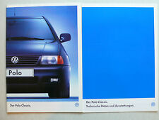 Prospekt Volkswagen VW Polo Classic, 11.1997, 44 S. + technische Daten/Ausstatt.