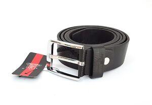 Cinta Cintura Uomo Pelle Nera A-039 Elegante Glamour Fashion Alla Moda hac