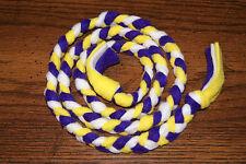 New 4ft Minnesota Vikings Lsu La Colors Handmade Braided Fleece Cat Toy Free S/H