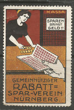 Germany/Nuremberg RABBAT Savings Club poster stamp/label