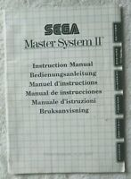 52697 Instruction Booklet - Sega Master System II Instruction Manual - Sega Mast