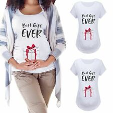 Women's Christmas T-Shirts Pregnant Maternity Casual Pregnancy Tees Tops Clothes
