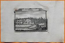 VAN DER AA Gravure originale c1725 VUE DE POITIERS Poitou Vienne Poetié Clain