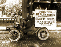 "1918 Automobile With Advertising, MA Vintage Old Photo 8.5"" x 11"" Reprint"