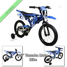 Yamaha Moto Bike 16 Inch Kids Bicycles Children Toddlers Bikes for Boys, Blue