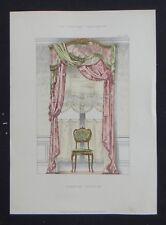 LA TENTURE FRANÇAISE 1905 - Fenêtre Louis XV - ameublement tapisserie 109