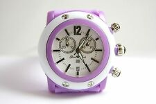 Authentic Glam Rock Womens Miami Beach Chronograph Watch GD1109-DC WHITE & LILAC