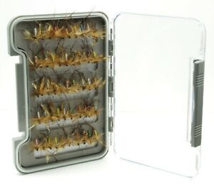 Slim WP Fly Box with Daddy Long Legs Dry Flies for Trout Fly Fishing