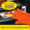 Silicone BBQ Gloves Kitchen Oven Mitts Non Stick Pot Heat Proof Resistant