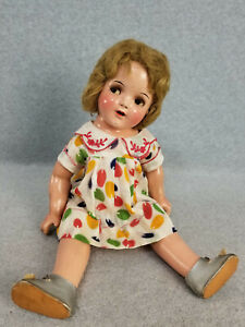 "18"" antique composition Ideal Shirley Temple Cinderella Doll w Flirty Eyes ""TLC"""