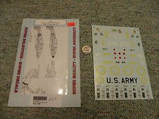Superscale  decals 1/48 48-7 P-38 D  L M P-400 Airacobras USAAF Free French J43
