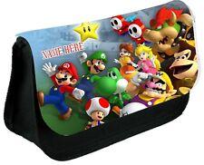 Super Mario y amigo #1 Estuche Personalizado, constituyen Bolso, escuela cualquier nombre