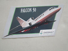 AUTOCOLLANT STICKER AUFKLEBER DASSAULT AVIATION FALCON 50 BIZJET