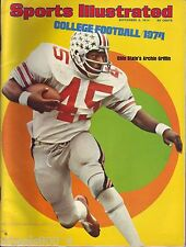 Sports Illustrated 1974 Ohio State Buckeyes Archie Griffin No Label Excellent