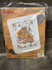 """JANLYN baby baby's garden Quilt Stamp Cross Stitch 34""""x43"""" finished size 140-142"""