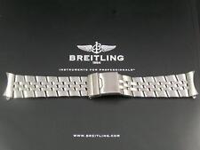 Correa de pulsera de acero pesado para BREITLING NAVITIMER Bentley GT aeroespacial 24mm
