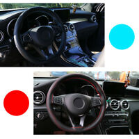Universal 38cm Car Steering Wheel Cover Leather Protective Protection Needle Top