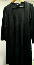 TALBOTS Black CASHMERE Women Size Medium M PETITE Thin Long Cardigan Knit Coat