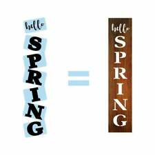 Hello Spring Porch Stencil For Wood Sign - Reuseable Stencil