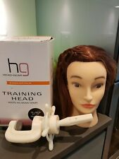 Hg Head-gear Training Practice Head 100% Human Hair 35-40cm WITH HEAD CLAMP