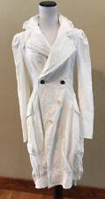 High Use Claire Campbell  Winter White Jacket Coat Long Maxi Bubble Hem US SZ 8