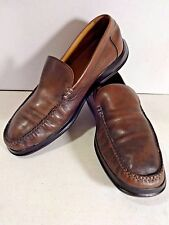 COLE HAAN Nike Air Mens Shoes 10 Brown Leather Driving Moccasins Slippers House