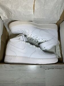 Nike Air Force 1 Mid '07 Men Basketball Shoes Triple White 315123-111 Size 10.5