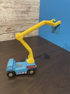 Vintage BRIO Wooden Bucket Truck with Magnetic Couplers