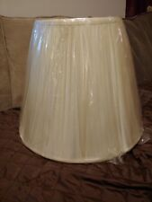 BELL LAMP SHADE diameter 9.75 height 15.25 Cone Top Cream Fabric