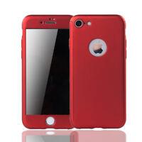 Apple iPhone 6 / 6s Plus Handy-Hülle Schutz-Case Cover Panzer Schutz Glas Rot