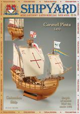 Caravel Pinta Columbus ship 1:96 paper model kit 30cm long
