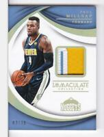 2017-18 Paul Millsap #/10 Patch Panini Immaculate Nuggets