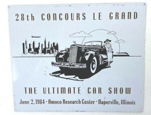 Vintage Aluminum Badge The Ultimate Car Show Naperville IL 1984 Collector Decor