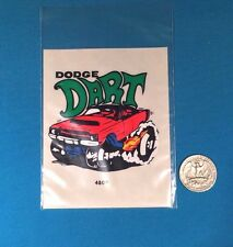 1 VINTAGE RARE 70S DODGE DART DEMON V8 FUNNY STICKER DECAL CREST EMBLEM