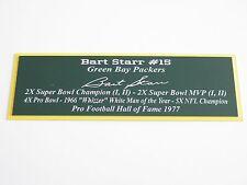 Bart Starr Nameplate Green Bay Packers Autograph Photo Ball Helmet Jersey